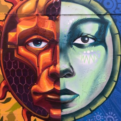 BSAM Mural created by Monk E., Danilo McCalum, Kalkidan Assefa and Jimmy Baptise
